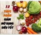 Bật mí những loại thực phẩm giúp giảm mỡ bụng nhanh chóng