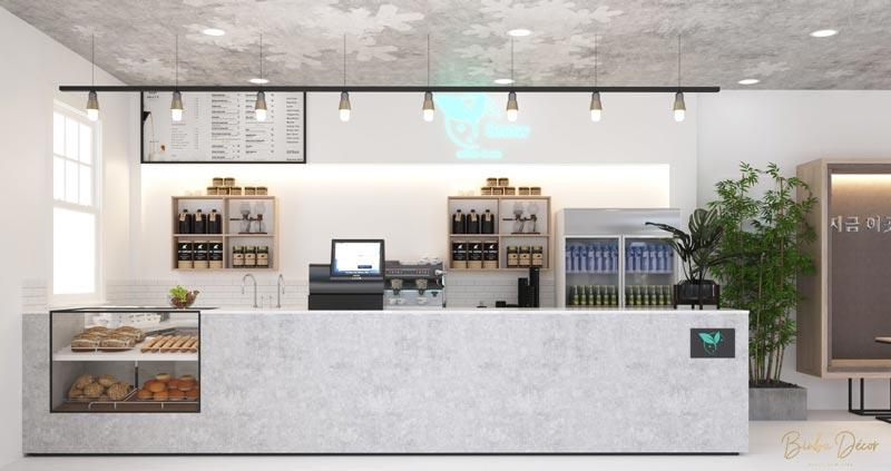 thiết kế quầy bar cafe đẹp