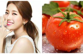 Cách làm trắng da bằng cà chua