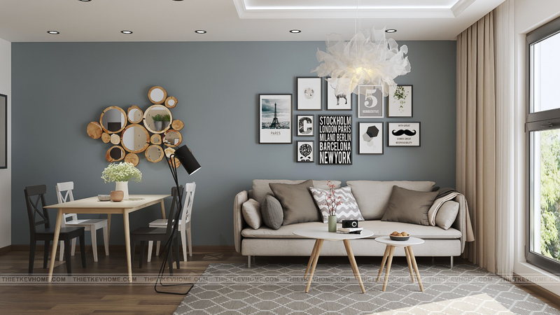 Thiết kế nội thất chung cư mang vẻ đẹp sang trọng, tinh tế