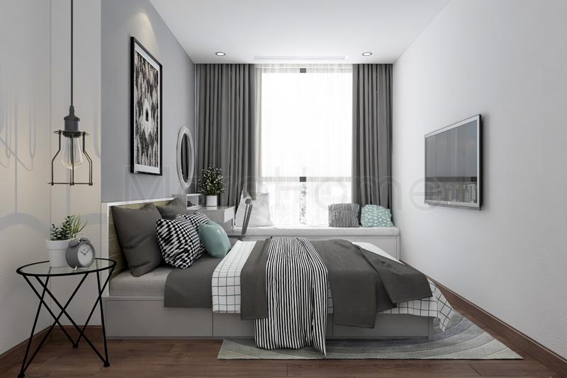 Màu sắc ảnh hưởng lớn đến chất lượng giấc ngủ. Vì thế, không gnên lauwj chọn gam màu quán nóng hay quá sáng mà nên lựa chọn tone màu trầm để giấc ngủ được ngon hơn.