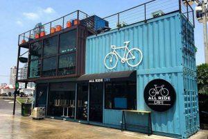 Nhưng khái niệm về thiết kế quán cafe container mặt tiền còn khá mới mẻ với thời gian mới đây.